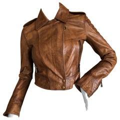 Belstaff Vintage Honey Brown Distressed Leather Motocross Jacket