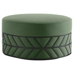 Belte Green Pouf by Elena Salmistraro