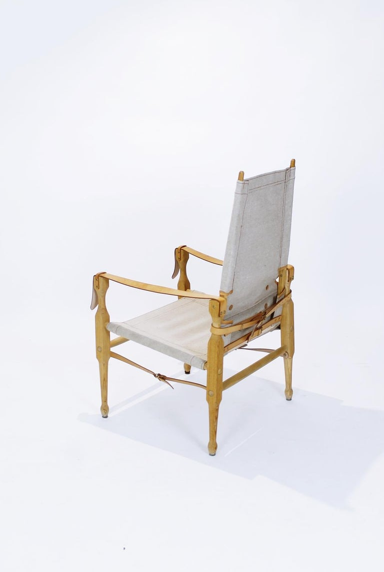 Brass  Bema Safari Chairs by Marstaller Munich Germany  For Sale