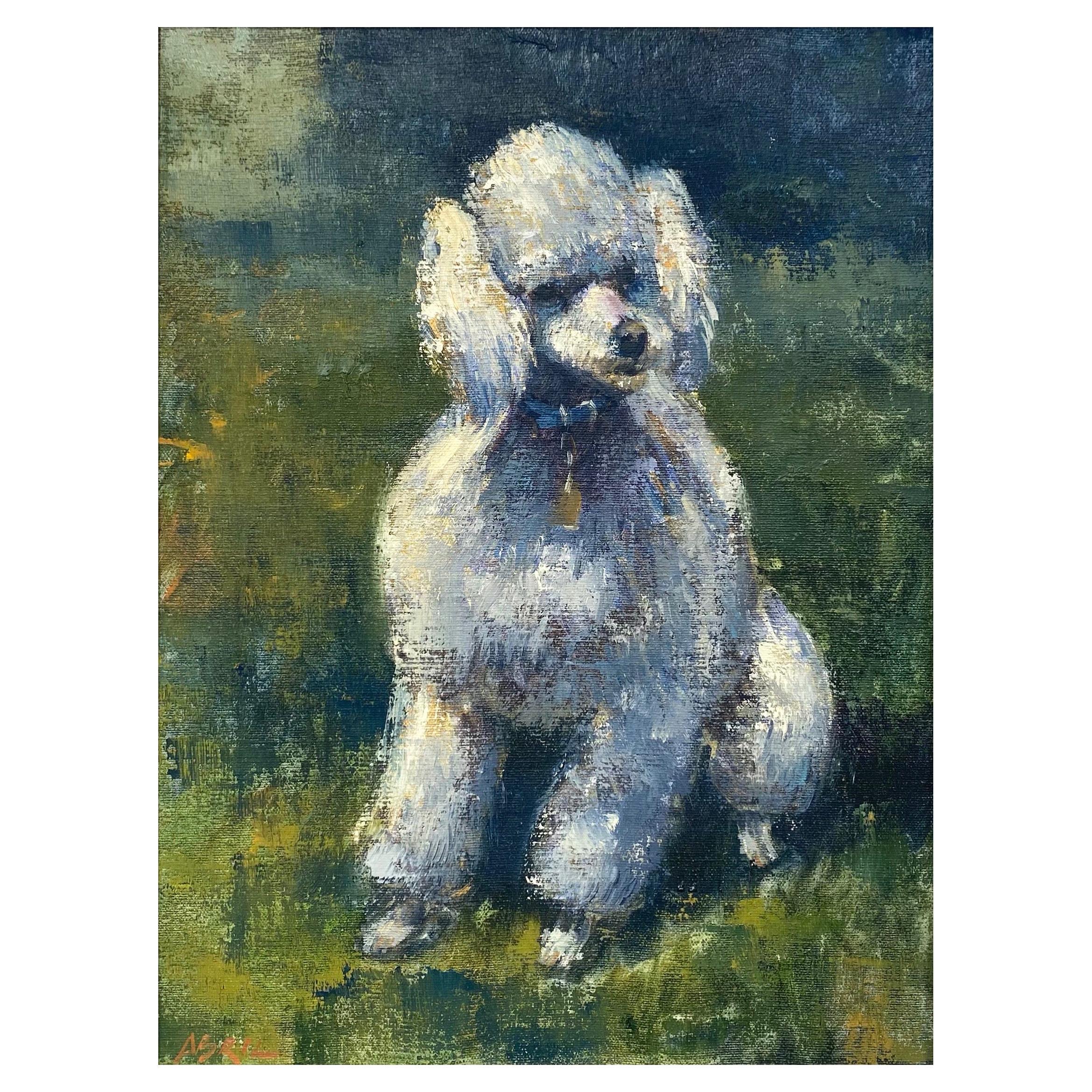 Ben Abril, Impressionist Portrait Painting of Nixon's Poodle Vicky, 1960s