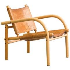 Ben af Schultén Model 411 Safari Lounge Chair, Artek, Finland, 1974