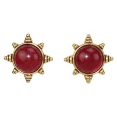 Ben Amun Byzantine Style Clip On Earrings, 1980's