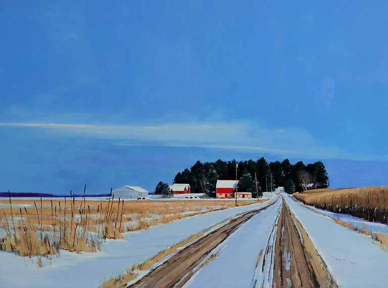 Ben Bauer, County Road 4 Farmstead, 2016 - Painting by Ben Bauer