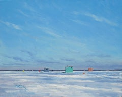 Ben Bauer, Ice Houses on the Banana Bar, Lake Mille Lacs, MN 2020