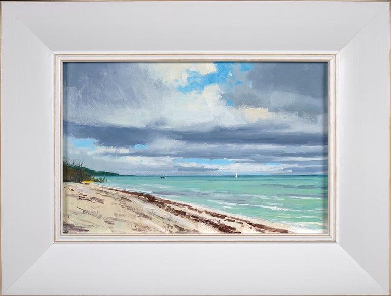 Ben Bauer, Keys Beach 2019 - Tonalist Painting by Ben Bauer