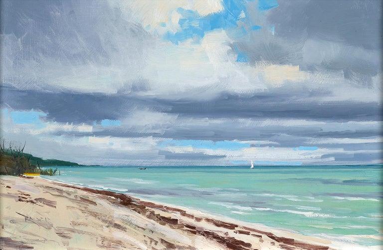 Ben Bauer, Keys Beach 2019 - Painting by Ben Bauer