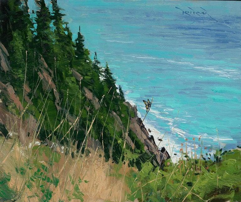 Ben Bauer, Oregon Coast 2018 - Painting by Ben Bauer