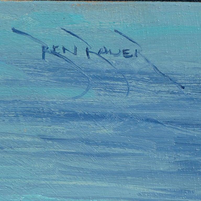 Ben Bauer, Oregon Coast 2018 - Tonalist Painting by Ben Bauer