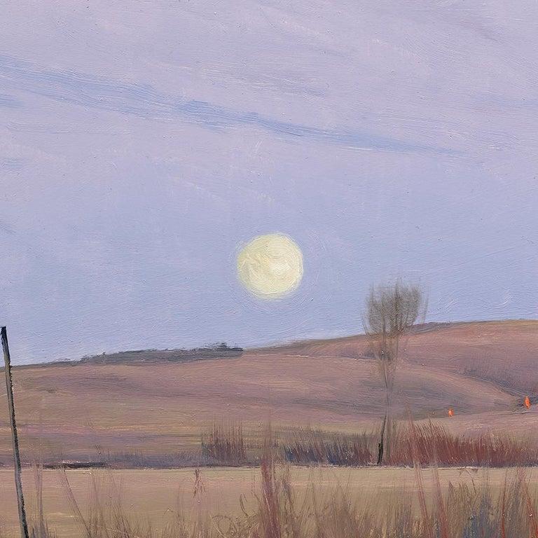 Ben Bauer, When We Walk These Fields 2 - Gray Landscape Painting by Ben Bauer