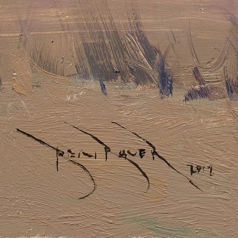 Ben Bauer, When We Walk These Fields 2 - Tonalist Painting by Ben Bauer