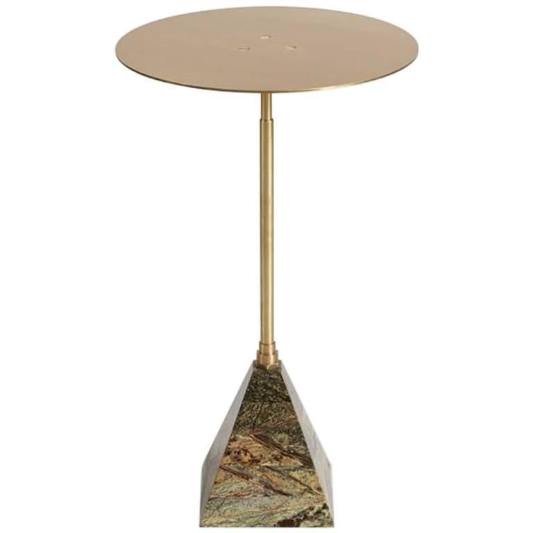 Blackened Ben Erickson, Cocktail Table with Telescopic Post, United States, 2016 For Sale