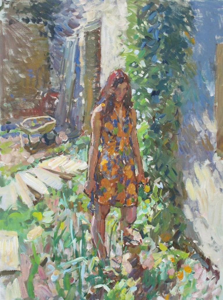 Ben Fenske Figurative Painting - Bea, Garden