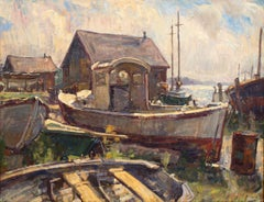 Boat Yard, Lifting Fog