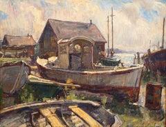 Boat Yard, Lifting Fog