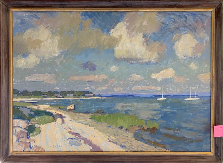 Clouds Over Secret Beach - Painting by Ben Fenske
