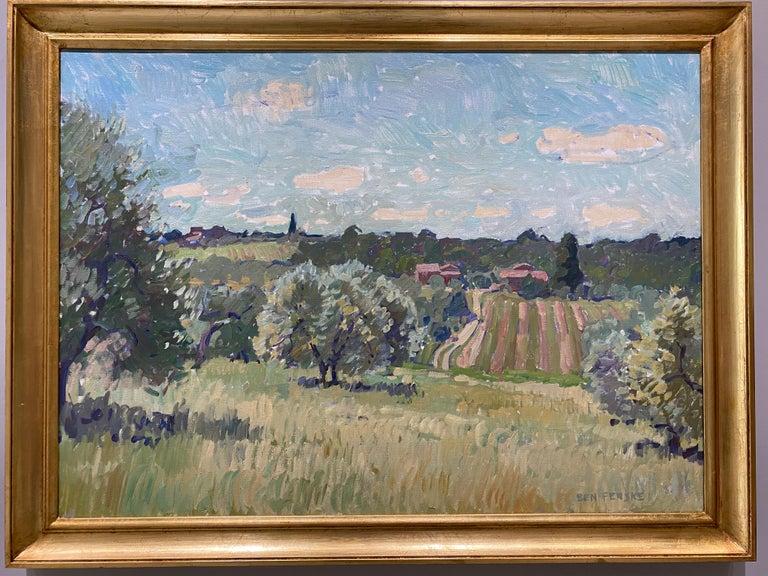 Flowering Olive Grove - Painting by Ben Fenske