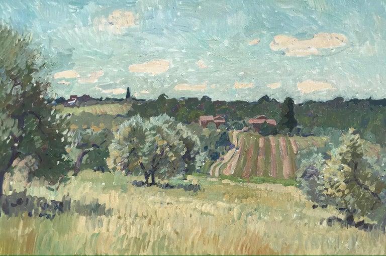 Ben Fenske Landscape Painting - Flowering Olive Grove