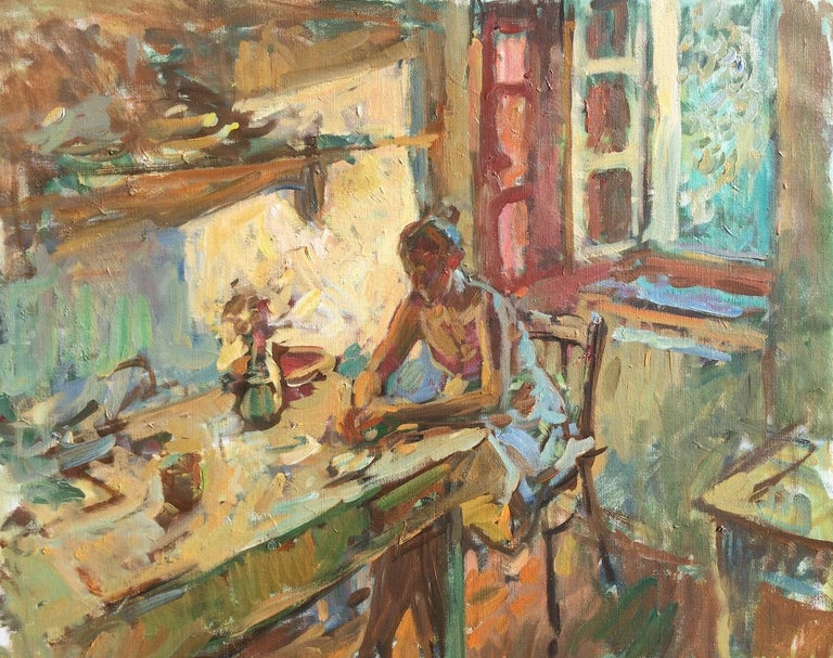Ben Fenske - Ball Jar Bouquet, Painting For Sale at 1stdibs