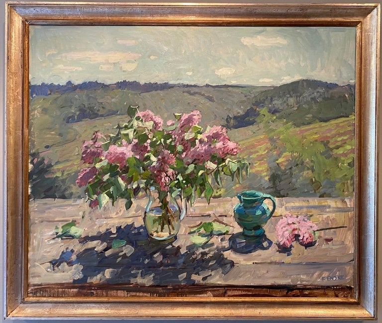 Lilacs and Vines - Painting by Ben Fenske