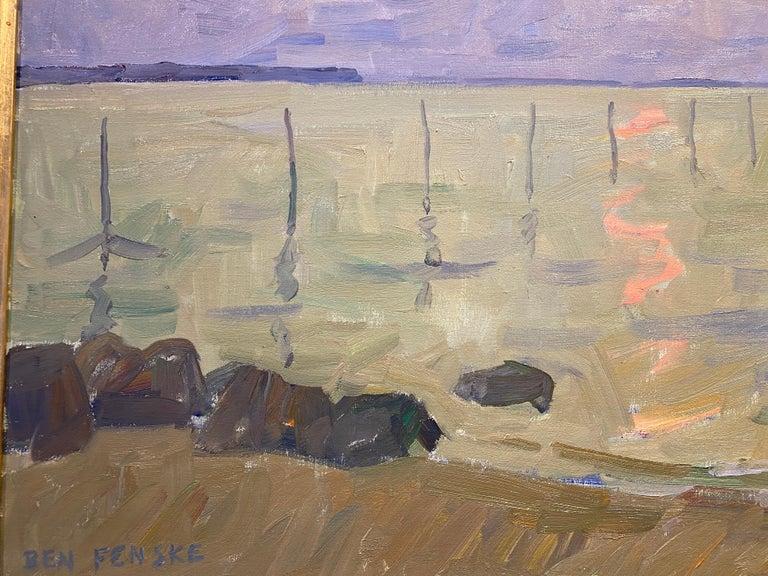 Long Beach Fishing Nets - American Impressionist Painting by Ben Fenske