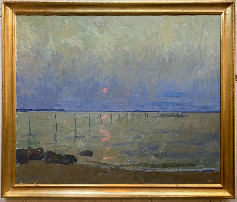 Ben Fenske Landscape Painting - Long Beach Fishing Nets