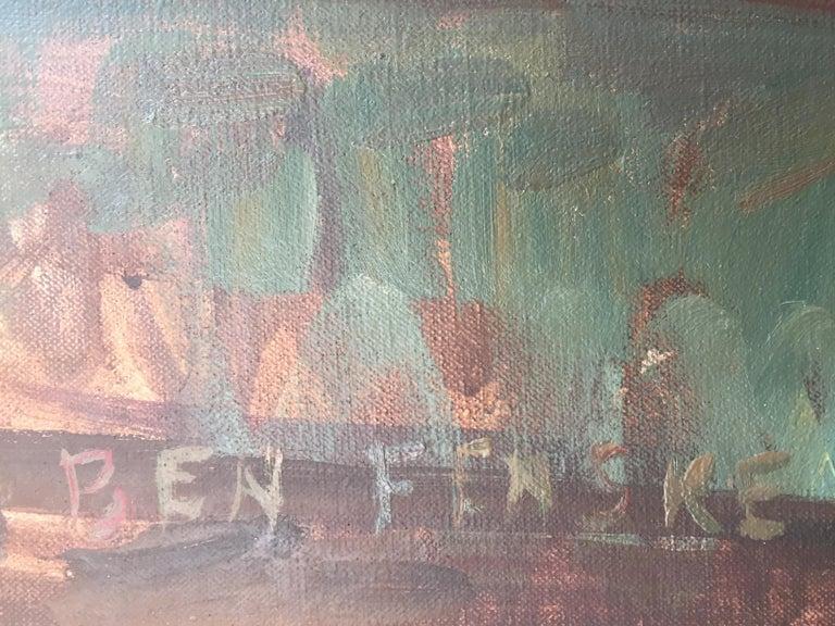 Olive Oil - Brown Still-Life Painting by Ben Fenske