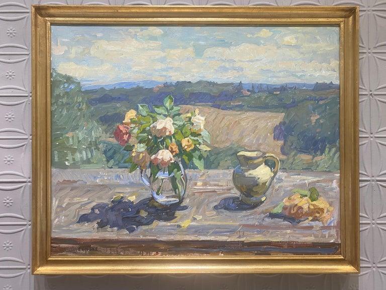 Roses, Sunlight  - Painting by Ben Fenske