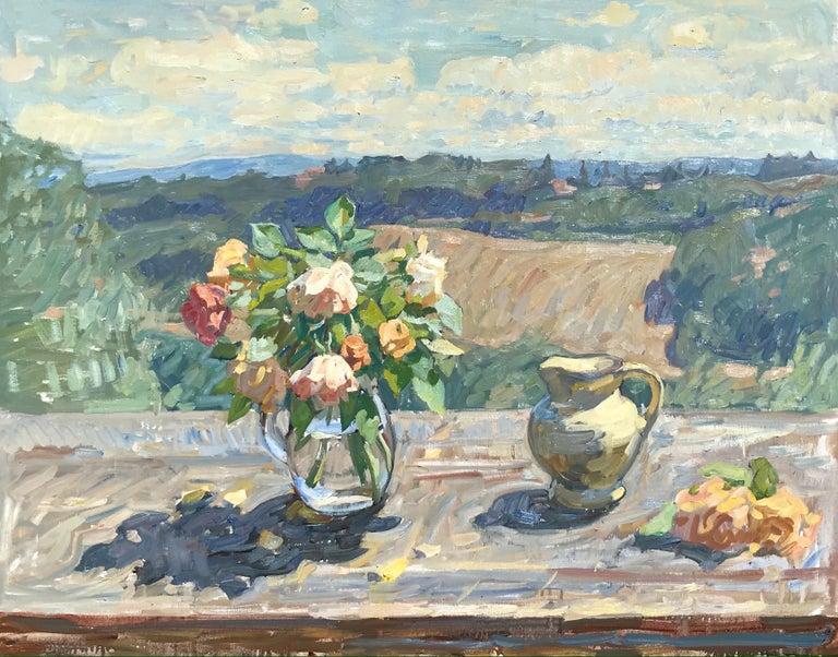 Ben Fenske Landscape Painting - Roses, Sunlight