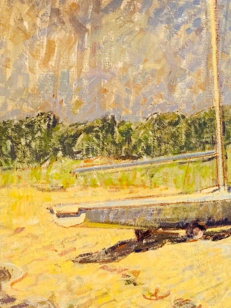 Sailboat - American Impressionist Painting by Ben Fenske