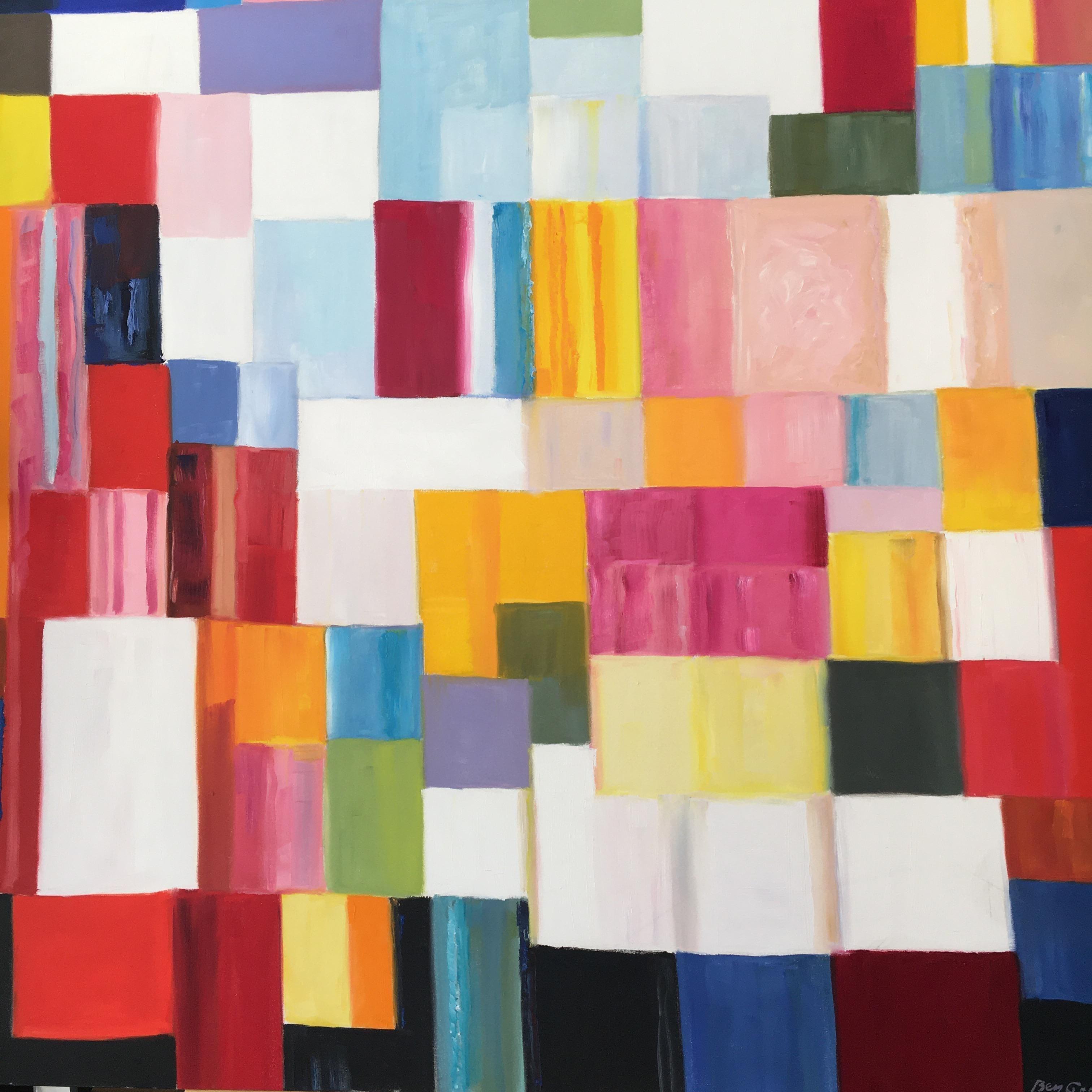 Color Field Painting. Title - Color Dance