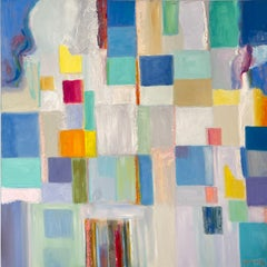 Color Field Painting. Title - Movement in Blue