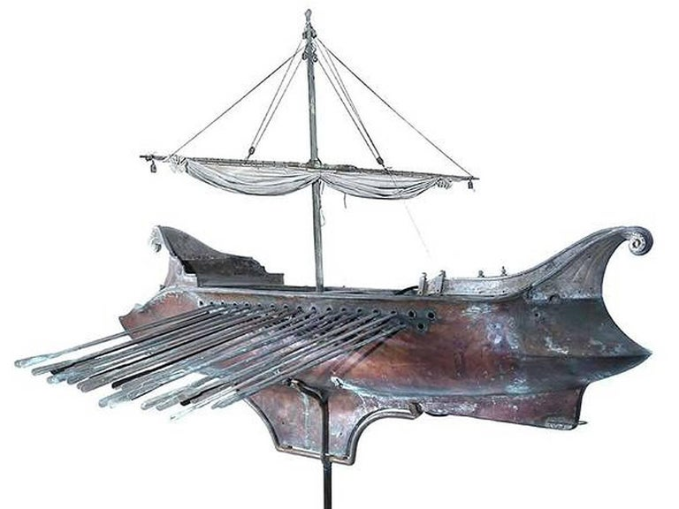 Industrial Ben Hur Screen-Used Mechanical Ship Movie Prop For Sale