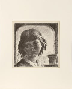 Young Girl by the Window - Portrait