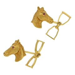 Ben Rosenfeld Horse Head and Stirrup Cufflinks