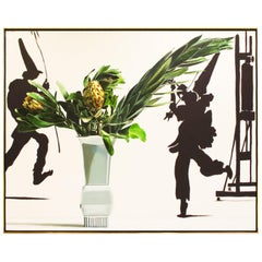 """Ben Schonzeit """"Two Protea"""" Large Acrylic on Canvas, 1989 'Signed'"""