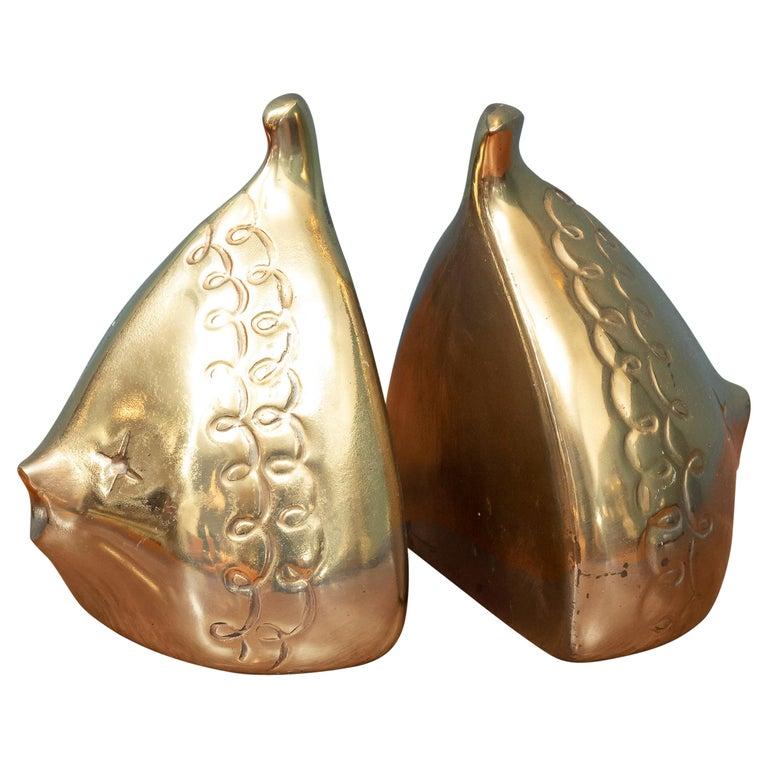 Ben Seibel Brass Bookends For Sale