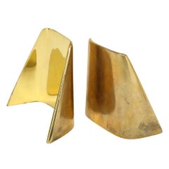 Ben Seibel Brass Bookends Jenfred-Ware Shovel, USA, 1950s
