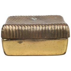 Ben Seibel for Jenfred Ware Copper Plate Trinket Box, circa 1960