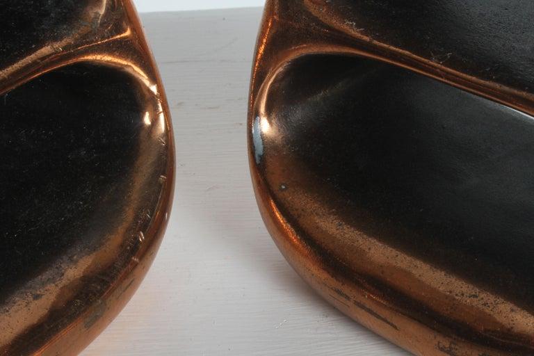 Ben Seibel for Jenfred-Ware Copper Sculptural Ladder Bookends For Sale 3