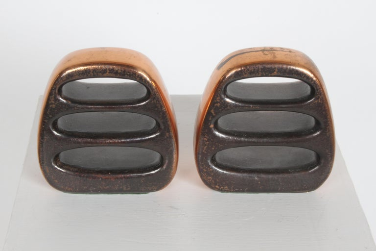 American Ben Seibel for Jenfred-Ware Copper Sculptural Ladder Bookends For Sale