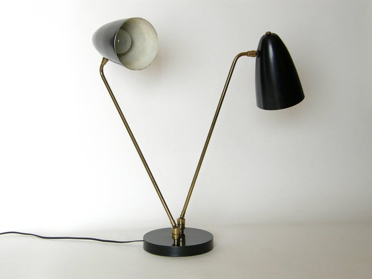 American Ben Seibel for Raymor Two Shade Table Lamp For Sale
