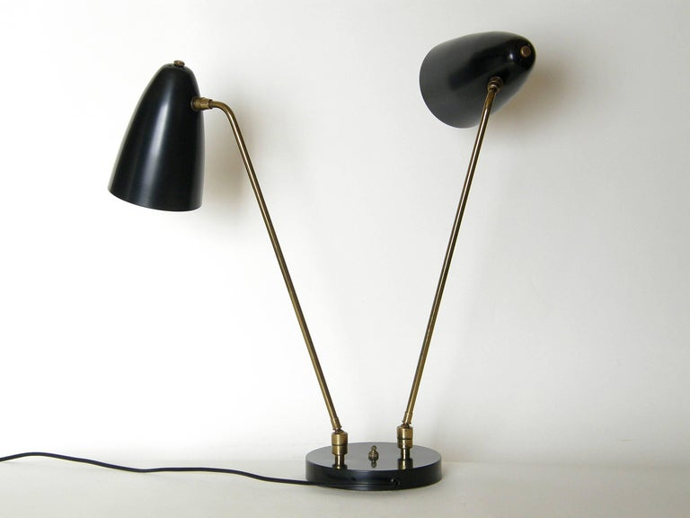 Ben Seibel for Raymor Two Shade Table Lamp For Sale 3