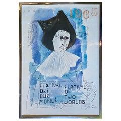 Ben Shahn 1965 Spoleto Festival of Two Worlds Lithograph, Mid-Century Modern