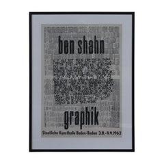 Ben Shahn Graphik, Staatliche Kunsthalle Baden-Baden 1962 Lithograph