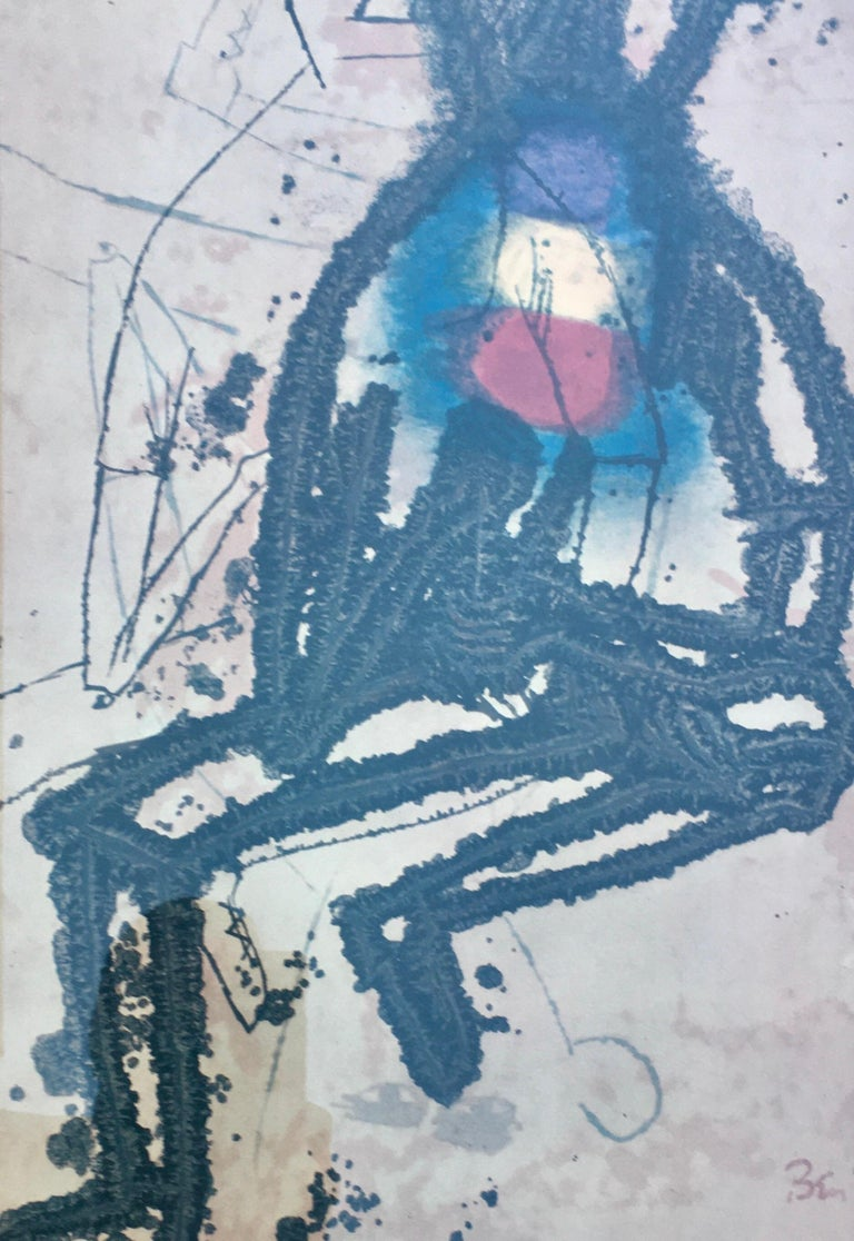 Mid-Century Modern Ben Shahn Original Lithograph Exhibition Poster 1960's, Signed in Plate For Sale