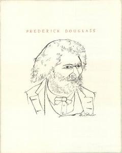 """Ben Shahn-Frederick Douglass-22"""" x 16.75""""-Lithograph-1965-Modernism"""