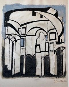 Ben Shahn Original Hand Signed Litho WPA Artist Rilke Poem Lithograph Portfolio