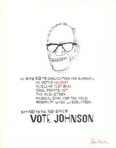 """Ben Shahn-Vote Johnson-28"""" x 22""""-Serigraph-1964-Modernism"""