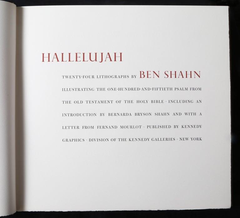 Halleluja Portfolio by Ben Shahn, 24 Lithographs in Portfolio Case For Sale 12