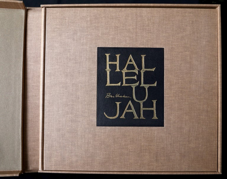 The Hallelelujah Portfolio by Ben Shahn Illustrating the 150th Psalm from the Old Testament of the Holy Bible.  Including an introduction by Bernarda Bryson Shahn and with a letter from Fernand Mourlot.  Contains 24 prints in original portfolio